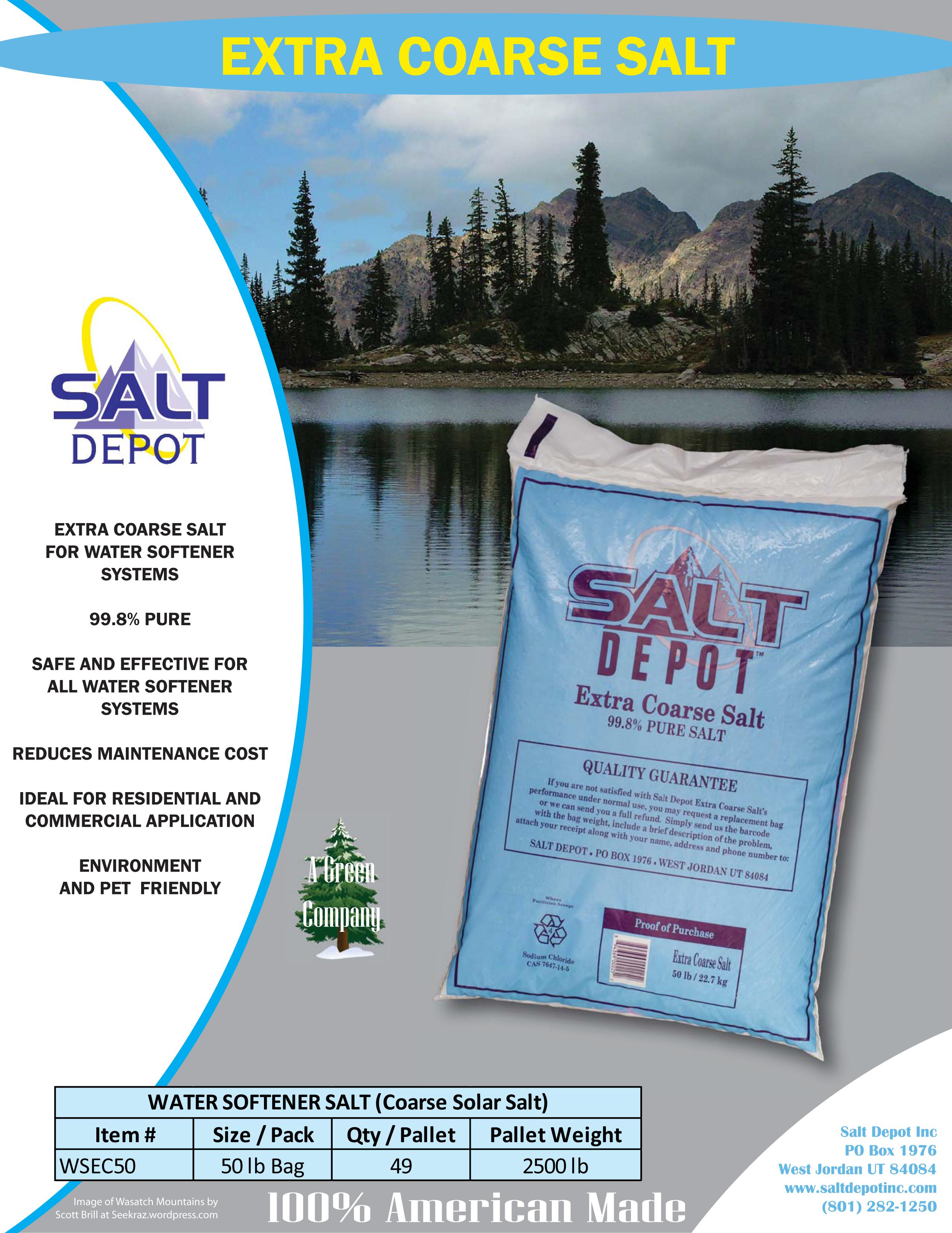 Extra Coarse Water Softener Salt