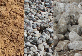 Sand, Gravel, Boulders